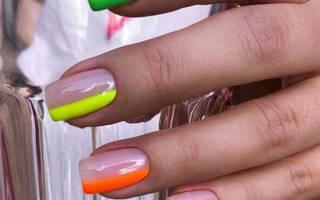 Маникюр на ногти средней длины